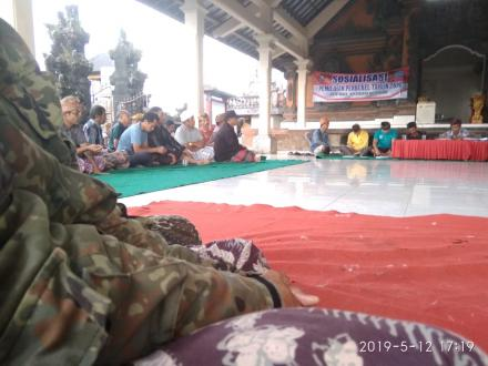 Sosialisasi Pemilihan Perbekel Desa Tista di Banjar Dinas Munduk Mengenu