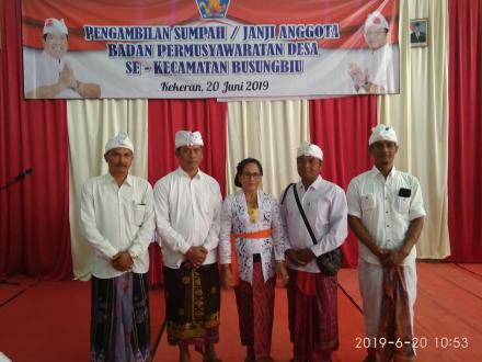 Susunan Kepengurusan Anggota BPD Desa Tista Periode 2019-2025