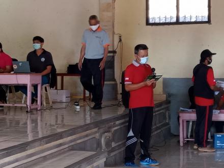 Pelaksanaan Vaksinasi Tahap II di Desa Tista